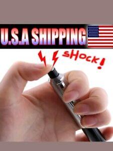 Shocking Pens Electric Shock Novelty Metal Pen Prank Funny Trick Joke Gag
