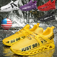 Men's Breathable Athletic Sneakers Lightweight Tennis Sports Running Shoes Gym