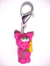 Charm(s) Dangle Schwein Tiere Rosa Damen Modeschmuck Bettelarmbänder Anhänger