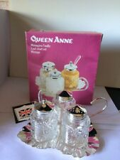 VINTAGE  QUEEN ANNE CRUET SET BOXED WITH TAGS