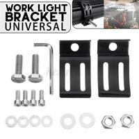 2PCS Aluminum Universal LED Work Light Bar Mounting Bracket For Car Offroad R