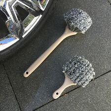 """2-Piece Wheel & Tire Brush Cleaning Kit Includes 8.5"""" & 20"""" Soft Bristle Brushes"""