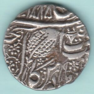SIKH EMPIRE RANJIT SINGH SILVER RUPEE KATAR AS MINT MARK EXTREMELY RARE COIN