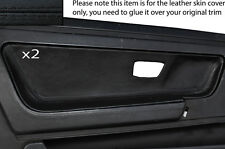 BLACK STITCH 2X DOOR CARD TRIM LEATHER SKIN COVERS FITS VW SCIROCCO MK2 81-92