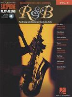 R&B Saxophone Play-Along Alto Sax Music Book/Audio Backing Tracks Rhythm Blues