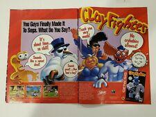 Vintage Retro 1994 Clay Fighter 2 page print ad Sega Genesis
