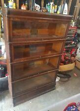 4 stack Globe Wernicke grade 299 oak bookcase