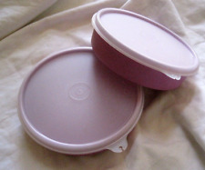 Tupperware Purple Snack Bowls & Seals Set of Two in Purple Rare 1-1/2 Cups New