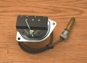 1955 CHEVY TEMPERATURE GAUGE in DASH ORIGINAL MECHANICAL TYPE with TUBE
