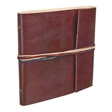 Commerce équitable fait main chaîne 3 cuir chocolat album photo scrapbook 2nd qualité