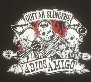 GUITAR SLINGERS  Adios Amigo  big back patch punk rockabilly psychobilly