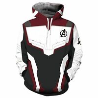 Marvel The Avengers Hoodie Pullover Sweatshirt Men Cosplay Costumes 3D Print Top