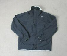The North Face Jacket Adult Medium Gray White Outdoors Full Zip Coat Mens