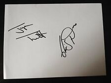 JAYNE TORVILL & CHRISTOPHER DEAN - OLYMPIC SKATING CHAMPIONS - SIGNED WHITE CARD
