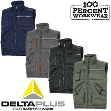 Heavy Duty Mens Work Padded Quality Bodywarmer Gilet Body Warmer Vest Delta Plus