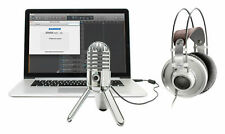 AKG K701 Premium Open-Back Studio Reference Headphones+Samson Recording Mic