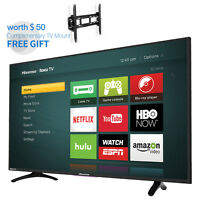 "HISENSE TV 40"" H4 Series Roku Smart Full FHD LED Backlight Free Wall Mount Gift"