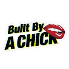 BUILD BY A CHICK LIPS JDM Sticker Decal Car Girls Car Sticker Decal #0422K