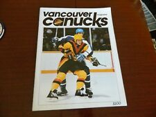 1984 Vancouver Canucks program vs TORONTO MAPLE LEAFS 'Salming' vol.14 no.32 Ex