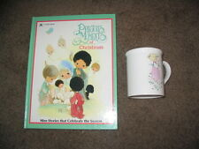 rare! vintage precious moments of christmas book and mug! very cool! enesco lot