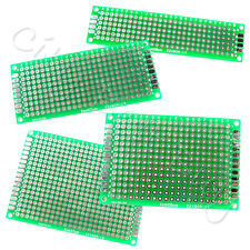 1 Double Side Prototype PCB BreadBoard 2x8 3x7 4x6 5x7 cm Tinned Universal FR4