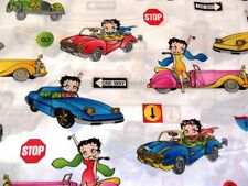 "OOP! BETTY BOOP ""CLASSIC CARS"" ON WHITE  FQ"