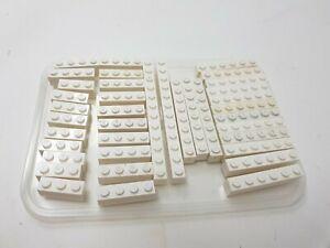 38 x LEGO White Bricks - Mixed - 9 - 1x3, 12 - 1x4, 12 - 1x6, 3 - 1x8, 2 - 1x12