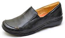 Clarks Unstructured UN.BUCKLE Black Slip Ons Oxfords Shoes Women's 6 - NEW 39027