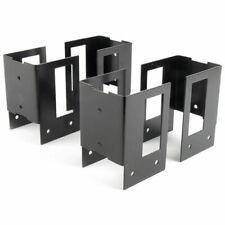 Rutland Stack-N-Store 30360R Log Rack Brackets, 4 Piece Set, Black