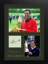Seve Ballesteros Enmarcado Firmado Autografiado Golf Recuerdos