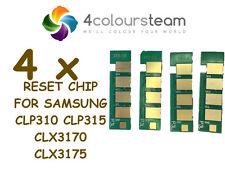 4x TONER RESET CHIPS (1set) FOR SAMSUNG CLP310 CLP315W CLX3175 CLX3175N CLX3175F