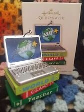 Hallmark Keepsake 2011 World Class Teacher Ornament Laptop NIB