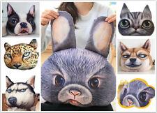 3D Animal Plush Dog Husky Rabbit Stuffed Toy Funny Pillow Cute Cushion Girl Gift