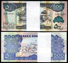 Somaliland 500 Shillings 2011, UNC, ½ BUNDLE Pack of 50 PCS, Consecutive, P-6