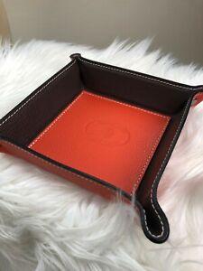 Personalisierbarer Taschenleerer aus Premium Leder Utensilien Schlüsselschale
