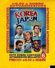 Peru 2002 Navarrete World Cup Soccer Korea Japan sticker Pack