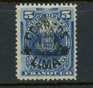 Peru- Scott 103 with Black Triangle MNG, Unlisted and Very Rare
