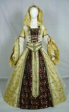 Vestido de boda Renaissance Tudor Medieval handfasting Larp Vestido de disfraz (MD-15)