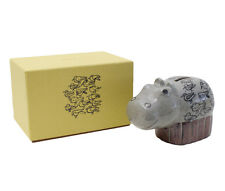"Cute! Lisa Larson Japan Series ""Hippo in the Bathtub"" Piggy Bank F/S w/tracking"