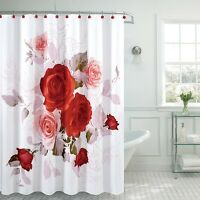 """Fancy Garden Rose Fabric Shower Curtain 70""""x""""72 Made With 100% Polyester (Roses)"""