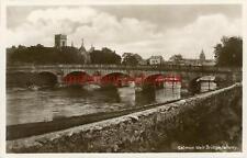 REAL PHOTO POSTCARD SALMON WEIR BRIDGE, GALWAY, COUNTY GALWAY, REPUBLIC IRELAND