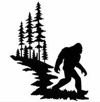 Die Cut Vinyl Decal Sasquatch Bigfoot Nature Scene DIY 20 Colors Car Truck #947