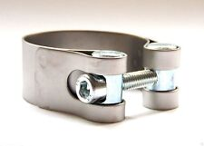 LeoVince Universal Motorcycle 57mm Exhaust Clamp Stainless Steel Range 56 - 59mm