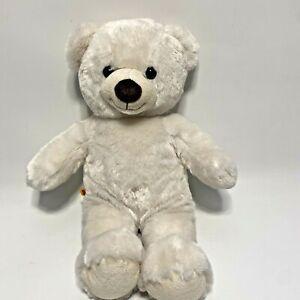 Very Soft Build A Bear 2013 Teddy Bear- White / Cream w/ Brown Nose