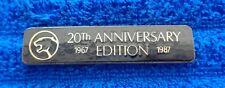 "Rare OEM 1987 Mercury Cougar 20th Anniversary Metal Cloisonne Dash Emblem 3.25"""