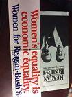 President Reagan - Bush 1984 Campaign Bumper Sticker & Brochure