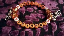 Handmade children's personalised name bead bracelet