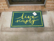 Live Simply - Natural Coir on PVC Backing Door Mat