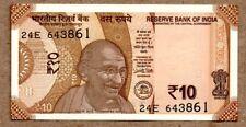 India UNC Note 10 Rupees 2017 (2018) P-NEW