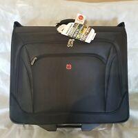 SWISSGEAR Full-Sized Effortless Wheeled Garment Bag Rolling Suitcase Luggage